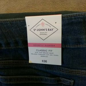 St. John's Bay Shorts - TWO PAIR 🍍St. John's Bay Burmuda Jean Shorts